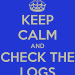 Check the logs